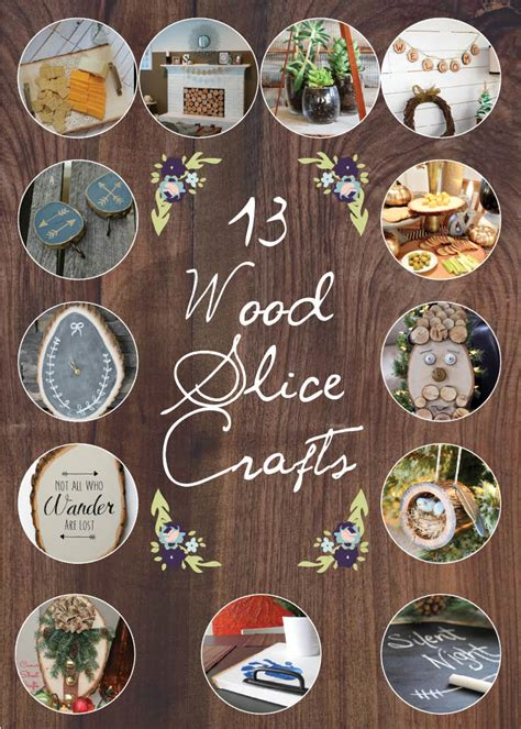 project craft diy wood slice serving tray