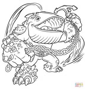 skylanders giant thumpback free colouring pages