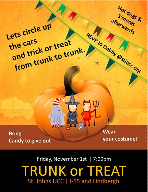 trunk or treat flyer templates 1