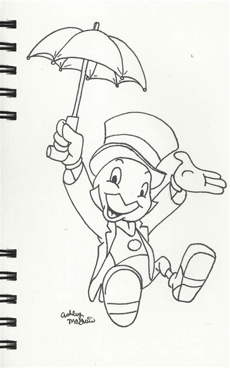 jiminy cricket pages printable coloring pages