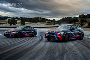bmw m2 pace cars drifting at laguna seca 365speed