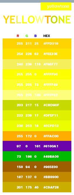 neon yellow color code yellow tone color schemes color combinations color