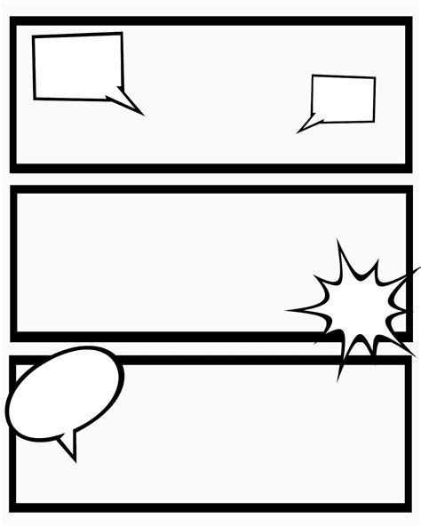 comic template pdf printable comic strips for narration sweet mess
