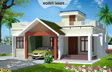993 sqft 2 bedroom house plans in kerala indian home