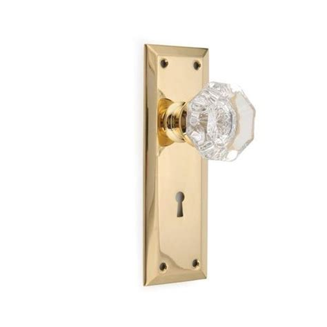 Passage Door Knob Sets by Glass Knob Passage Door Set With Small Plates Dyke S