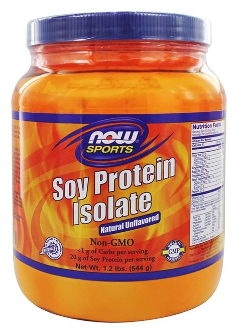 Exclusive 100 Soy Protein Powder 2 2lbs Alternatif Wpi Dan Wp buy now foods soy protein isolate non gmo unflavored 1 2 lbs at luckyvitamin