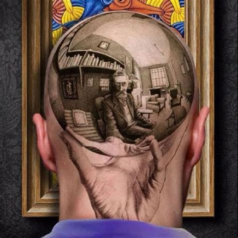 sphere tattoo designs with reflecting sphere great tattoos