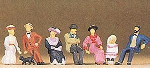Preiser 12139 Passers By sitting on platform model railroad figures ho scale 12137 by preiser 12137