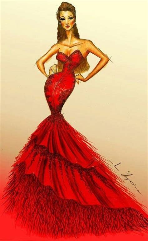 fashion illustration of dresses dress fashion illustration i ve got the reds