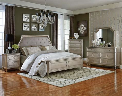 bedroom silver silver 3 or 5 piece bedroom suite windsor silver