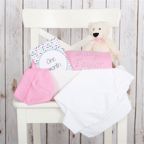 baby shower gift set in pink or blue by betty bramble