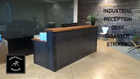 Industrial Style Reception Desk Disaster Industrial Reception Desk Project