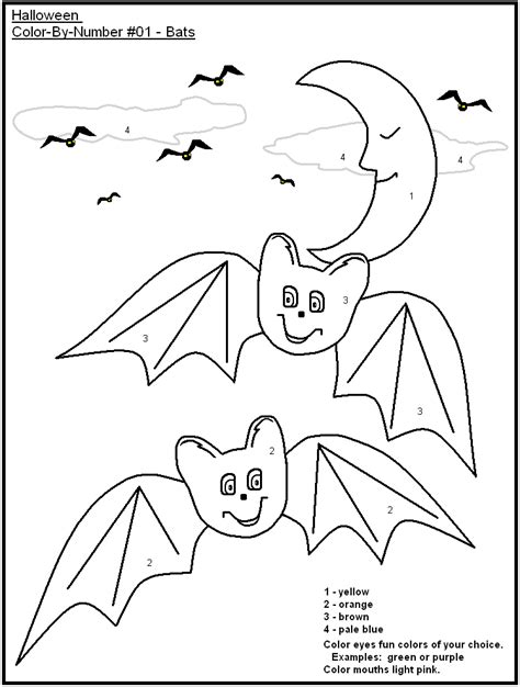 halloween coloring pages by number free printable halloween color by number holidays at kid