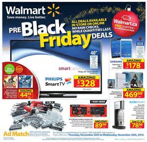 Walmart pre black friday flyer november 20 to 26 2014