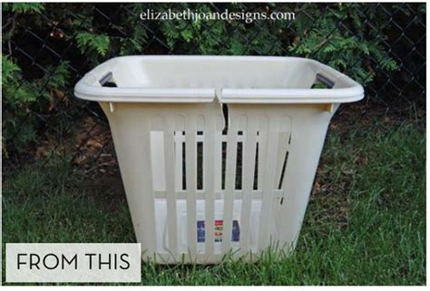 Large Planters Cheap by How To Turn An Laundry Basket Into A New Big Planter