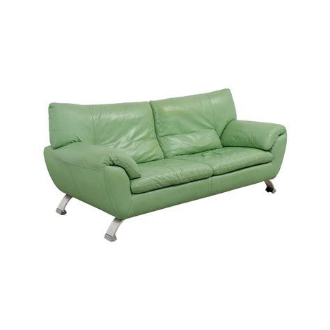 67 off nicoletti nicoletti green leather sofa sofas