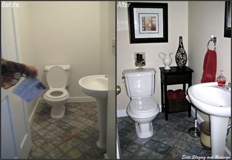 staging a small bathroom 5 budget bathroom transformations by a morris county stager