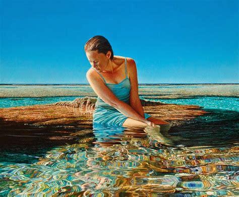 imagenes mujeres en el mar im 225 genes arte pinturas pinturas de paisajes del mar con