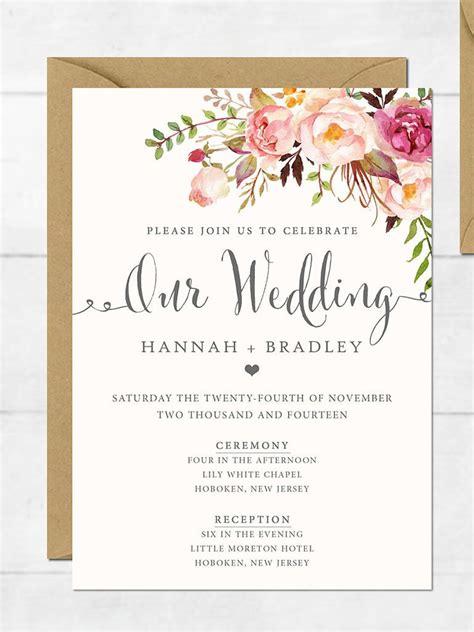 wedding invitation printable wedding invitation