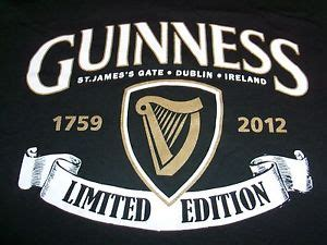 official guinness beer est. 1759 2012 authentic limited