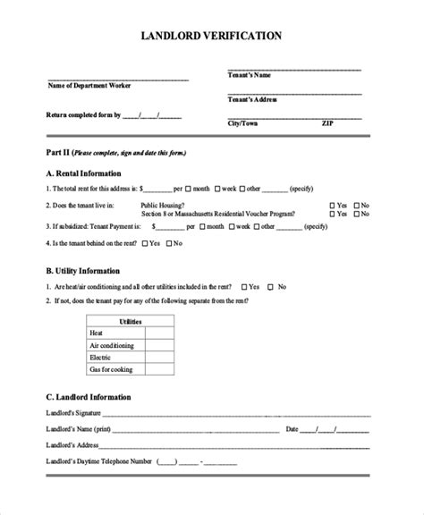 Proof Of Rent Letter Sle From Landlord Free Printable Landlord Forms 100 Images Free Rental Forms To Print Free And Printable