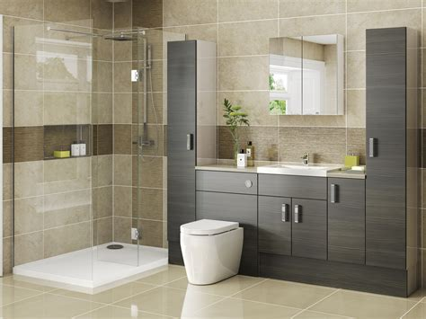 Jjo Bathrooms by Tempo Avola Brown Grey On Driftwood Wisteria Kitchens