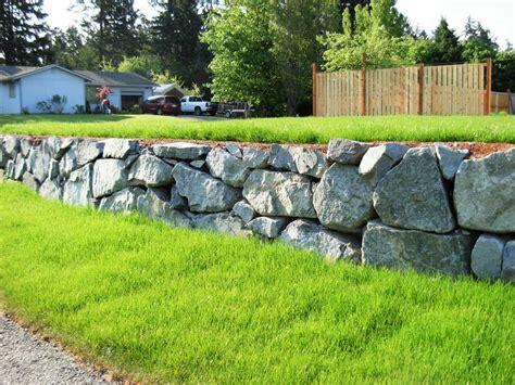 helping supply rock wall materials    years