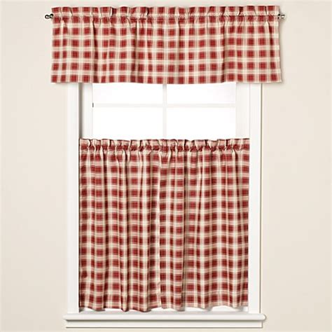 country check curtains buy country check 24 inch window curtain tier pair in