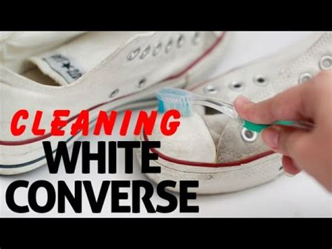 how to clean white converse shoes easily