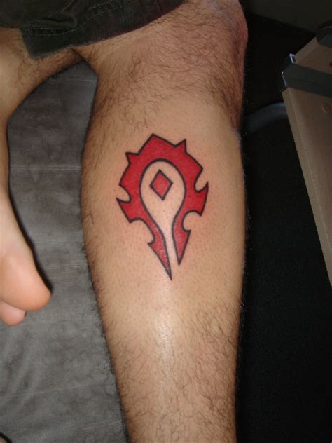 horde tattoo insignia of the horde tattooed