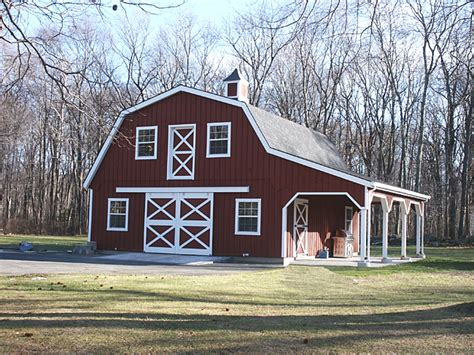 gambrel style roof barn with gambrel roof