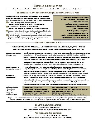 Business Operations Manager Sle Resume by Resume Sles Best Resumes Ny