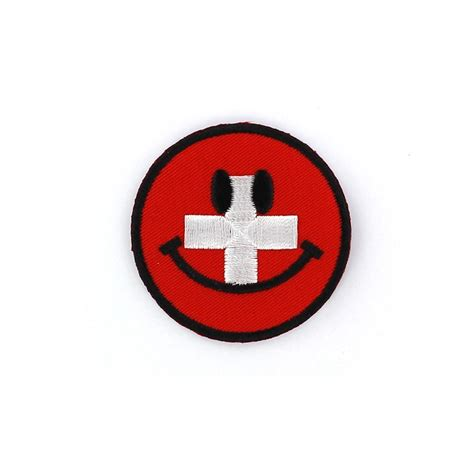 Patch Iron Patch Smile by Embroidered Iron On Patch Smiley Swiss Ma Mercerie