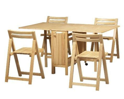Folding Table With Chairs Inside Table Bases Space Saver And Dining Sets On