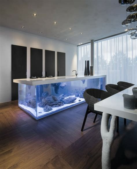 Art Deco Kitchen La D 233 Coration Avec Un Meuble Aquarium Archzine Fr