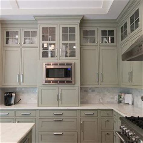 Grey Green Kitchen Cabinets Gray Green Cabinets Transitional Kitchen Town Country Kitchen And Bath