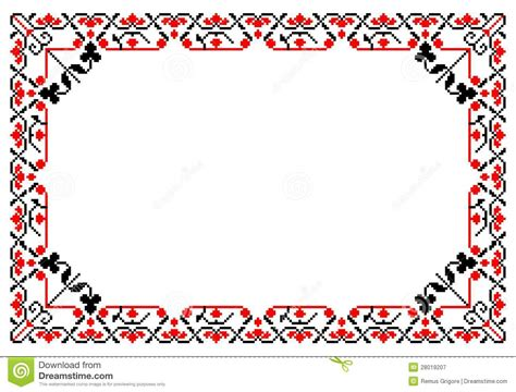 vector pattern frames cdr romanian traditional frame cdr format stock vector