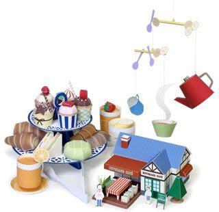 Kirin Papercraft - tea papercraft and paper crafts on