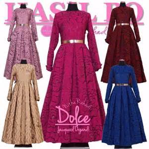 Baju Gamis Muslimah Keluarga baju pesta muslimah dan sarimbit keluarga dolce dress jo by nitha rahadi gamis terbaru lebaran