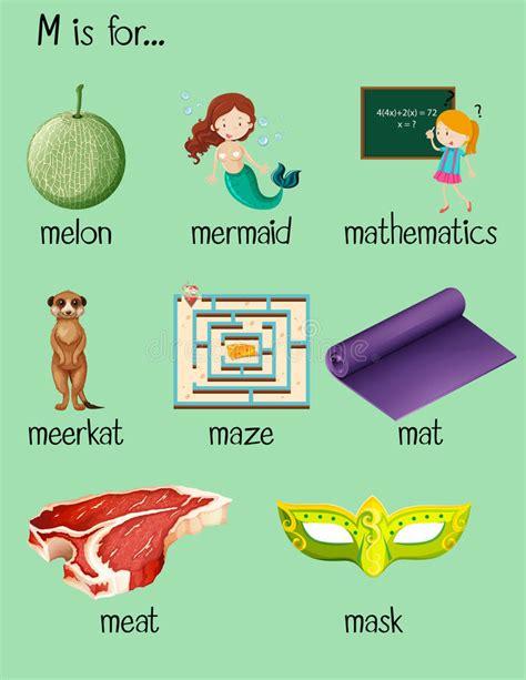 objetos con la letra m imagui muchas palabras comienzan con la letra m ilustraci 243 n del