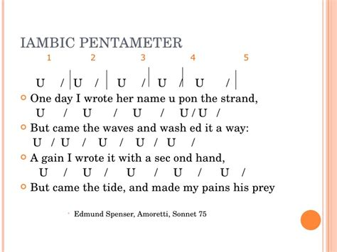 exle of iambic pentameter iambic pentameter poems images