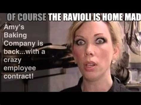 Amy S Baking Company Meme - amy s baking company is back with a crazy employee