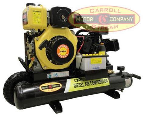 new portable 6hp diesel air compressor with electric start 16cfm small tank ebay