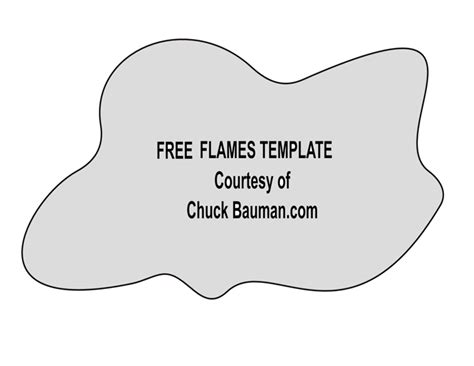 free real flames fire airbrushing templates stencils