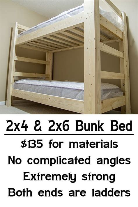 Strong Bunk Beds Easy Strong Cheap Bunk Bed Diy Wood Projects Pinterest Cheap Bunk Beds Bunk Bed And Easy