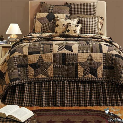 country quilts for beds country black primitive star twin queen cal king cotton