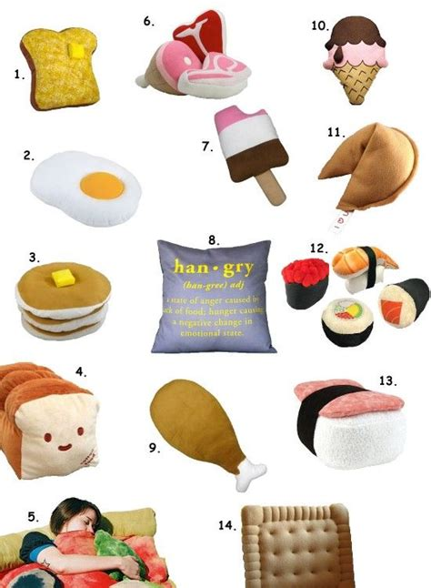 Pillows Shaped Like Food by Dreaming With Food Wedo An Assortment Of Pillows Shaped