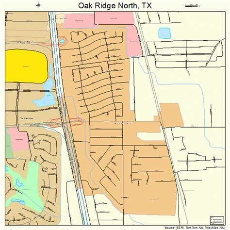 oak texas map oak ridge texas map 4853190