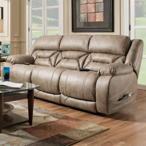 Homestretch Reclining Sofa Homestretch Enterprise Casual Power Reclining Sofa With Power Headrests Miskelly Furniture