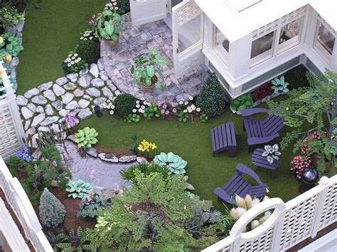dollhouse garden 236 best images about 1 4 scale on